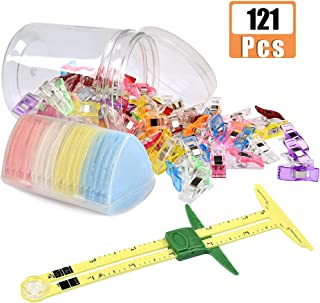 ATPWONZ Sewing Measuring Tools Kit with 5 in 1 Sliding Gauge, Multipurpose Sewing Clips, Triangle Chalks for Sewing Notions & Accessorie, Sewing Beginner Work
