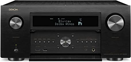 Denon Avr-X8500H Flagship Receiver - 8 HDMI In /3 Out, Powerful 13.2 Channel (150 W/Ch) Amplifier for Home Theater | Dolby Surround Sound, Music Streaming with Alexa + Heos | Audyssey Multeq Xt32