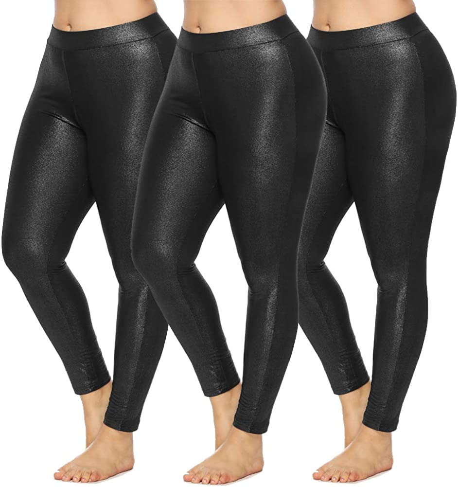 Asome Fit 3Pack Max Store 60% OFF Women's Plus High Fashion Waist Size Leggings