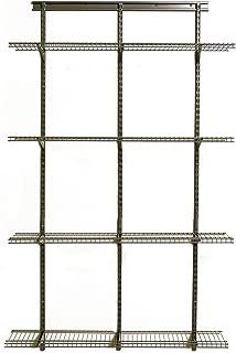 ClosetMaid 52845 ShelfTrack Adjustable Utility Organizer Kit, 4' X 12