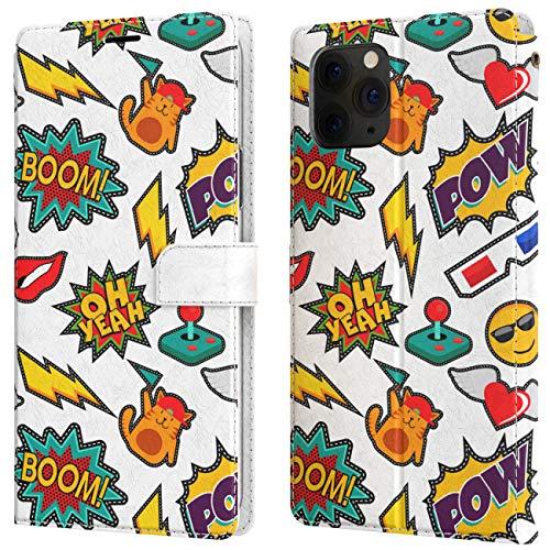 Lex Altern Custodia Per Apple iPhone 12 11 Pro Max SE Xs Xr 8 7 Plus 6 + Portafoglio Flip Fumetto Retro Pop Art Divertente Pelle Libro Magnetica Cover Casa Case Comico Porta Carte Motivo Carina w0275