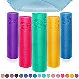 Yogamatte mit Memory-Schaumstoff | Spüre den Unterschied »Kirana« - rutschfest aus ECO-PVC hergestellt - Maße: 183x61x0,4 cm - die Unterlage für Yoga, Gymnastik, Fitness etc. / Kirana - Curry