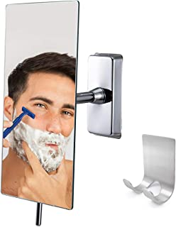 Canoz-FM-RM01 Fogless Shower Mirror with 360 Degree Rotating, Not Need Hot Water