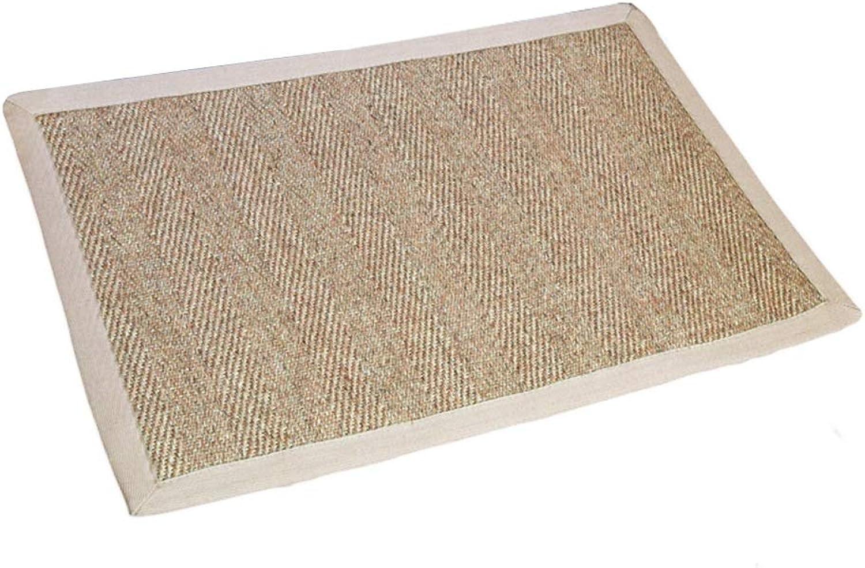 JIAJUAN Front Doormat Natural Material Entrance Non-Slip Mat Washable Wear Resistant Kitchen shoes Scraper Floor Mat (color   C, Size   60X90cm)