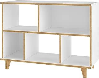Manhattan Comfort Minetta Midcentury Modern Bookcase, White