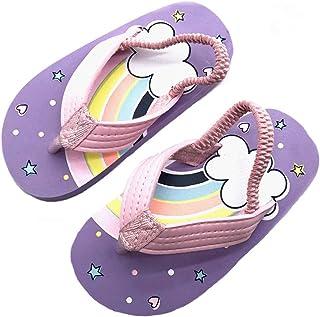 Coralup Chaussons de plage pour enfants avec sangle de dos élastique en EVA (multicolore, 36 à 13 enfants) - Multicolore -...