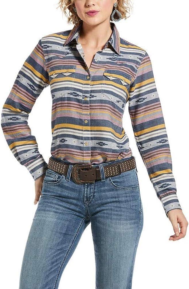 ARIAT R.E.A.L. Sunset Beauty Shirt Multi Jacquard Stripe LG