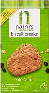 Nairn's Gluten Free Biscuit Breaks, Oats & Fruit, 160 gm