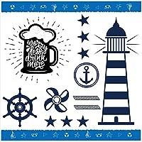夏☆シール式ウォールステッカー summer 夏休み 祭り ひまわり 海 太陽 SURF 飾り 90×90cm 剥がせる カッティングシート wall sticker wsl-016554-ws