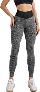 Workout Ruched Butt Lift Leggings for Women High Waisted Scrunch Cellulite Booty Yoga Pants Fishnet Tights TIK Tok