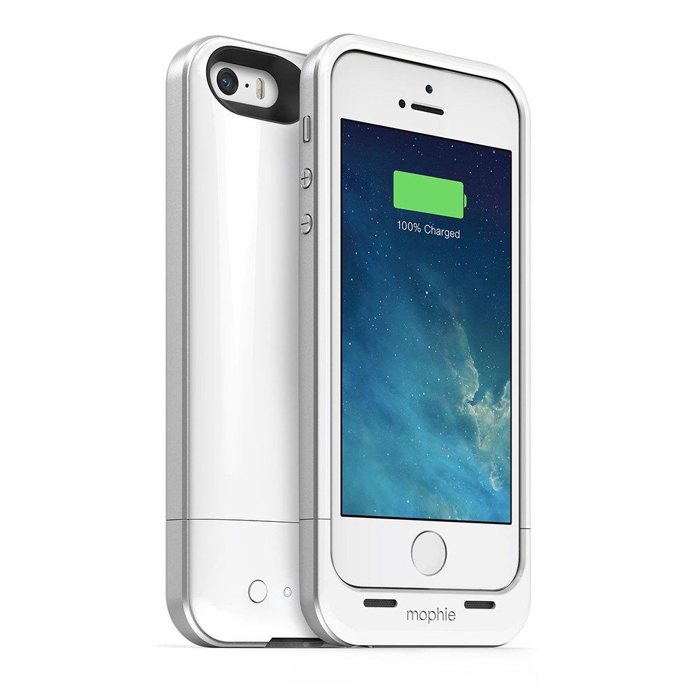 Mophie Juice Pack Air - Funda rígida con batería integrada (1700 mAh) para iPhone 5, color blanco: Amazon.es: Electrónica