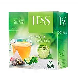Tess, Ginger mojito - Green Tea, Lemon Peel, Mint, 20 Sobres