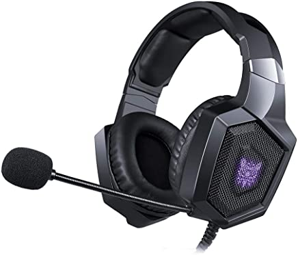Là Vestmon Auriculares Gaming - ONIKUMA K8 Gaming Headset través de oído Stereo Gaming Auriculares con Noise Cancelling Mic para Nintendo Switch PS4 Xbox One PC Laptop Smartphones