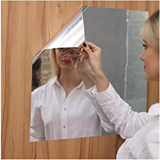 Soft Mirror Sticker,Big Flexible Mirror Sheets Full Body Mirror Self-Adhesive Wall Non Glass Cuttable Plastic Sheet