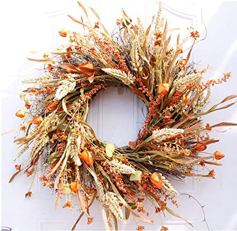 jeerbly 24 inch San Diego Mall Artificial Grain Thank Rustic Wreath Primitives Cash special price