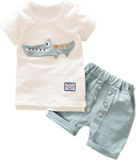 e7fb04e78 Conjunto Bebé Verano ❤ Amlaiworld Recién Nacido Infantil Bebé Niño Niña  Dibujos Animados Tops Camisas