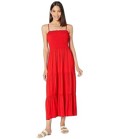 1.STATE Strapless Smocked Bodice Dress