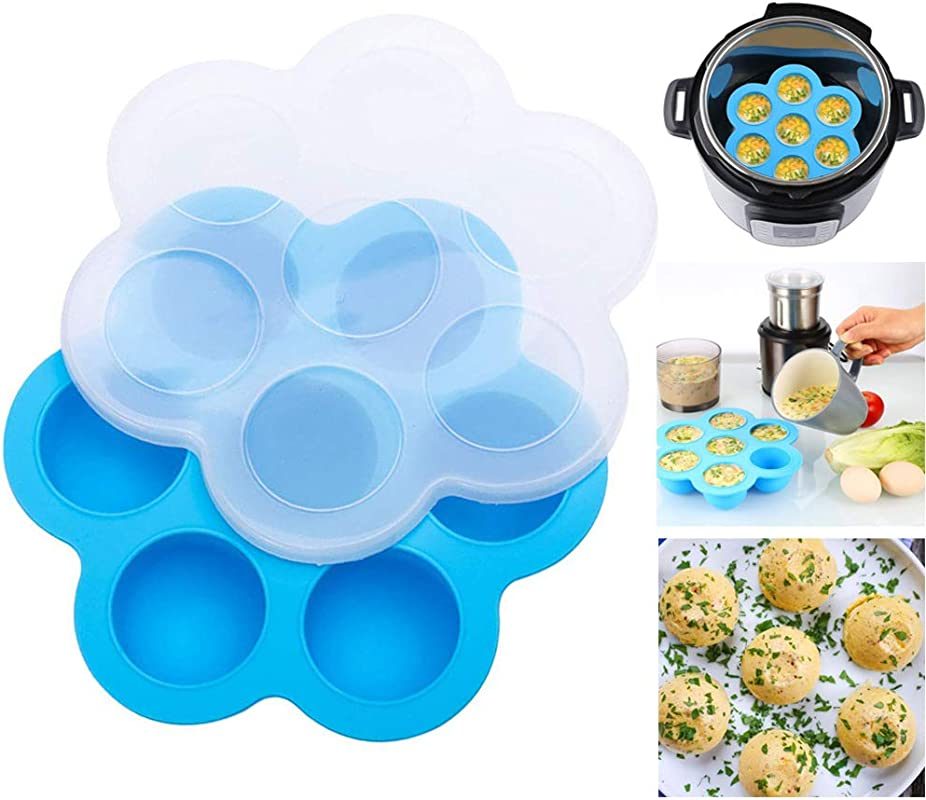 Egg Cooker Silicone Egg Bites Molds For Instant Pot Accessories Fits 5 6 8 Qt Pressure Cooker Microwave Oven Refrigerator For Baby Food Freezer Egg Cooker Fruit Ice Egg Bite W Silicone Spoon