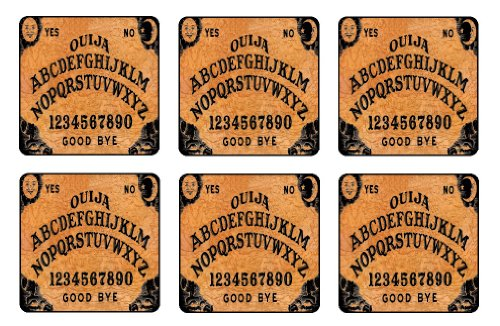 Ouija Board Coaster Set of 6 TV Mini Mousepads Board Games