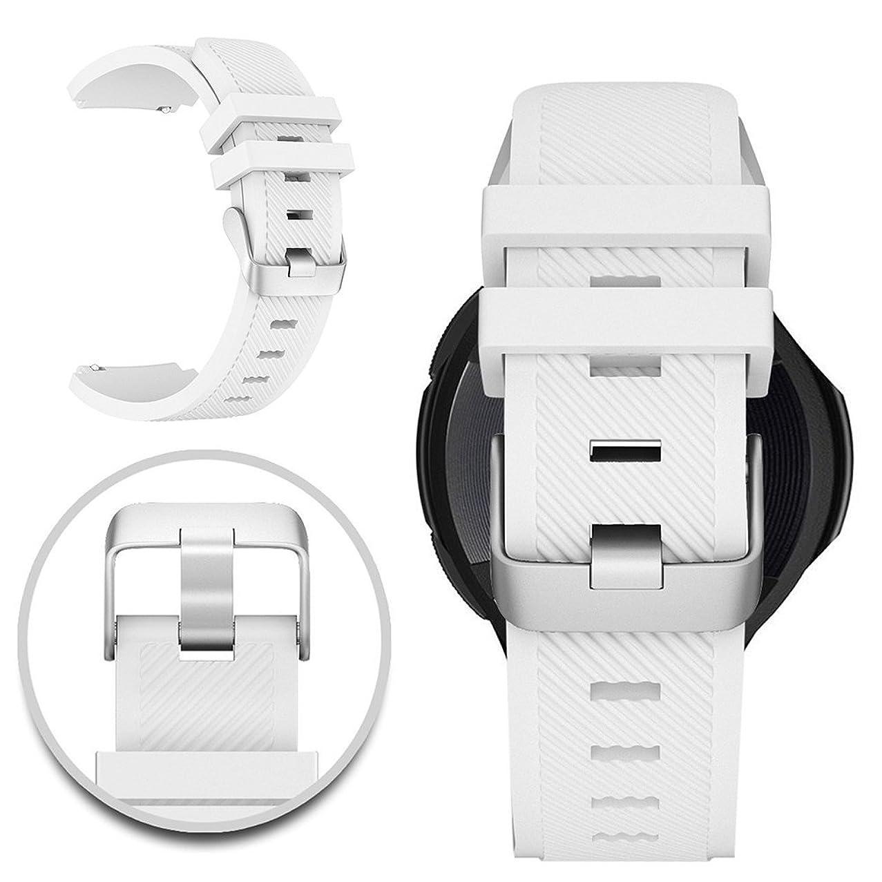 意気込み早く気づかないMaxku Galaxy Gear S3 Frontier/Classic Watch バンド 交換ベルト 高級シリコンベルト 通気穴設計 柔軟でスポーツ仕様 多色選択 (ホワイト)