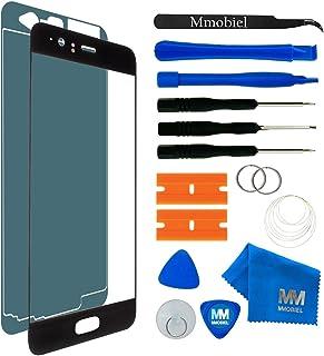 طقم إصلاح الزجاج الأمامي MMOBIEL متوافق مع Huawei P10 VTRL09 VTRL29 (أسود) شاشة 5.1 بوصة