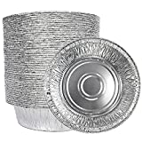 5 Inch Aluminum Foil Mini Pie Tins - Disposable Small Pie Pans For Bakeries, Cafes, Restaurants - Durable Mini Foil Pans for Pie, Fruit Tarts, Quiche (50, 5 inch)
