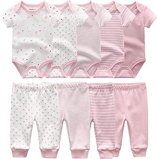 Unisex Newborn Baby Short-Sleeve Bodysuit Baby Layette Essentials Giftset Clothing Set