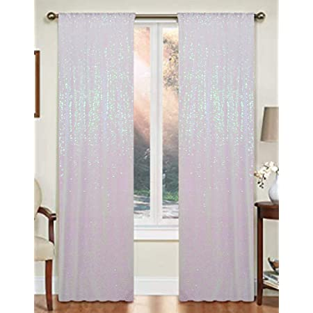 JYFLZQ White Iridescent Sequin Backdrop Curtain 5FTx7FT 1Panel Sparkly Glitter Photography Background Drapes for Birthday Wedding Prom Party Decoration