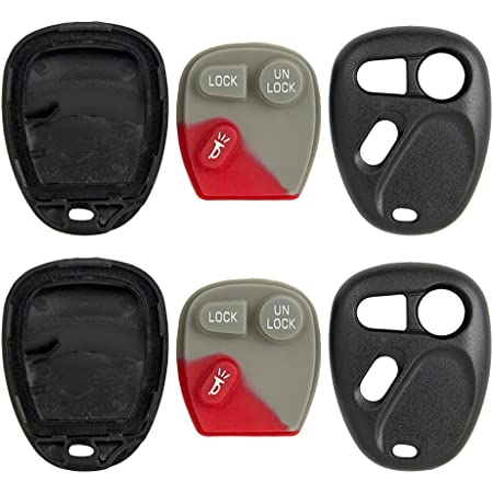 Keyless2Go New Replacement Shell Case and Button Pad for Remote Key Fob with FCC LHJ011 Shell ONLY 2 Pack