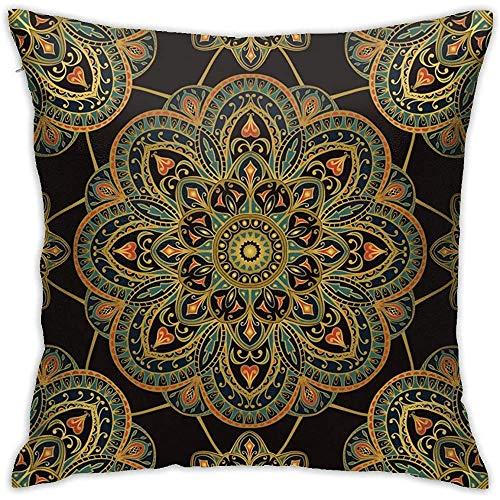 July Donkere versiering van mandalas kussensloop zonder inzetstukken kussensloop voor Home Sofa Slaapkamer Huisfeest