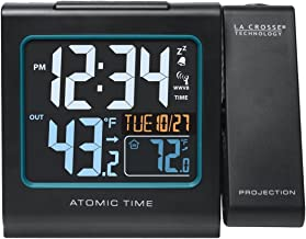 La Crosse Technology  616-146 Color Projection Alarm Clock with Outdoor temperature &..