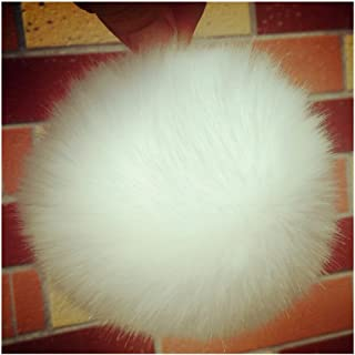 9 Pom Pom Balls, Faux Fur Balls, Furry Balls for Handbag Charming, Keychain, Christmas Tree Decoration, Knitting Hats, Diameter: 3.5inch