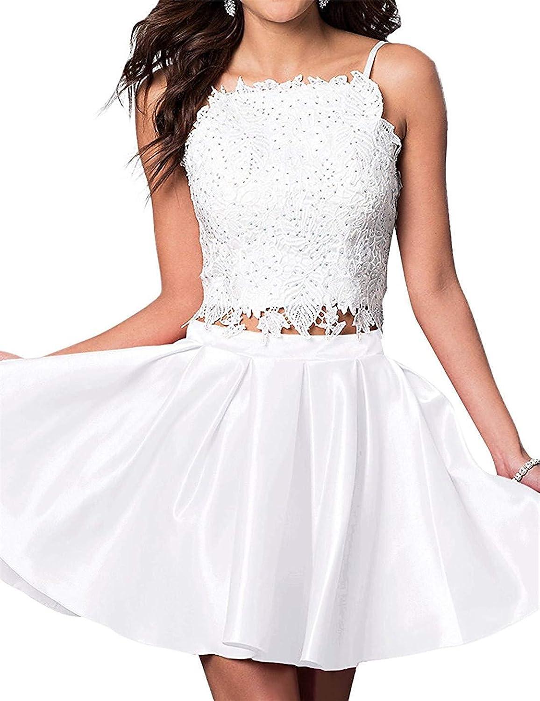 Sophie Women's Juniors 2 Piece Homecoming Dress 2019 Short Sleeveless Prom Dress Aline Q037