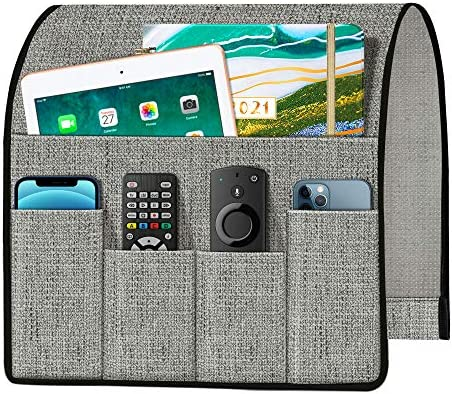 Joywell Thick Linen Sofa Armchair Caddy Armrest Organizer Remote Control Holder for Recliner product image