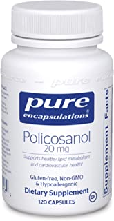 Pure Encapsulations - Policosanol 20 mg - Hypoallergenic Supplement Supports Healthy Lipid Metabolism and Cardiovascular F...