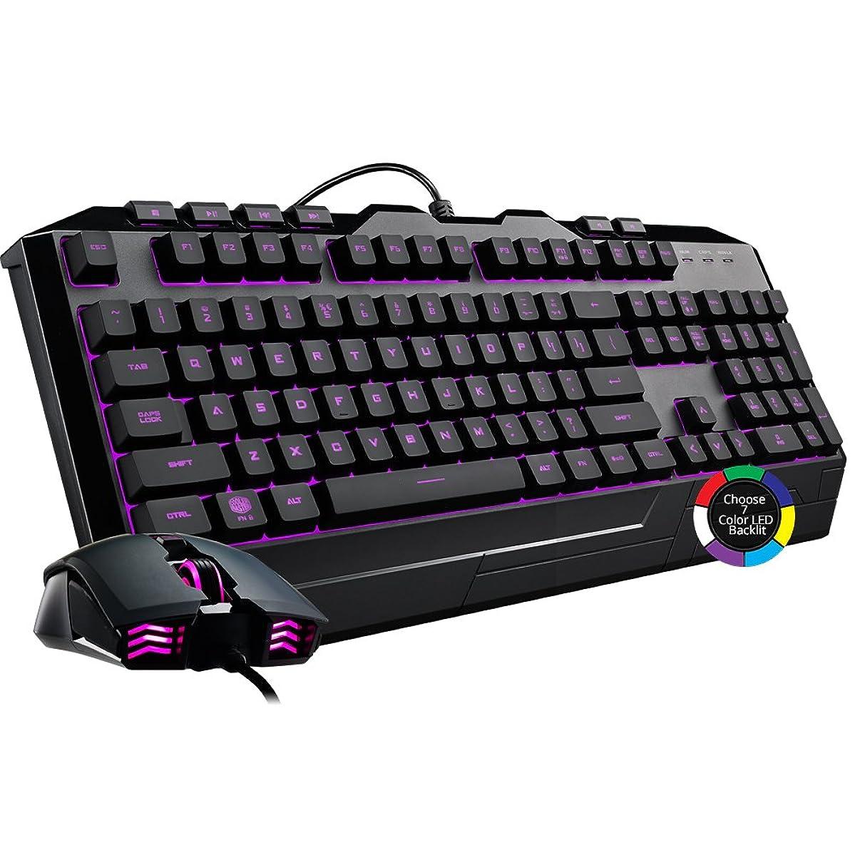 Cooler Master Devastator 3 Gaming Keyboard & Mouse Combo, 7 Color Mode LED Backlit, Media Keys, 4 DPI Settings