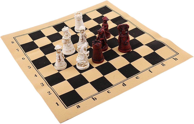 Homyl Tragbares Schach Spielset mit Spielfiguren und Spielbrett - 38 x 38cm B07D3CWWPD Innovation     | New Product 2019