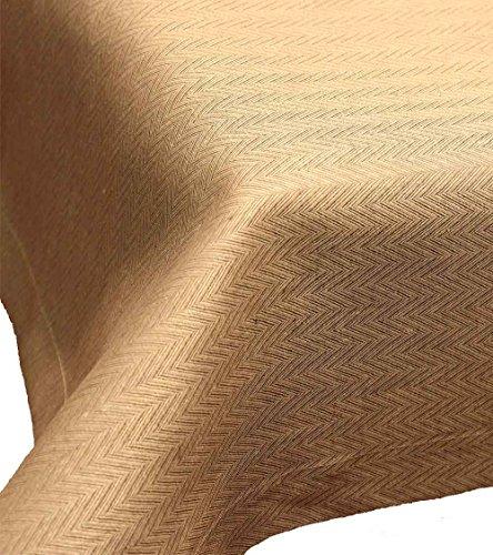 Driessen: Tischdecke aus reinem Leinen mit Fischgrätmuster, Torino, sesam, schmal gesäumt, 170x320