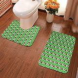 Set di 2 tappetini da bagno in morbida flanella con scritta