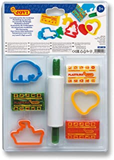 Jovi Plasticine Modelling Clay Set, Easy to Malleable Modelling Clay for Children Aged 3 Years and Above Blister with 3 Co...