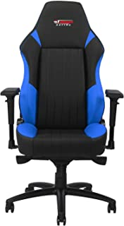 GT OMEGA EVO XL Racing Gaming Chair with Lumbar Support - Heavy Duty Ergonomic Office Desk Chair with 4D Adjustable Armrest & Recliner - PVC Leather Esport Seat for Racing Console - Black & Blue
