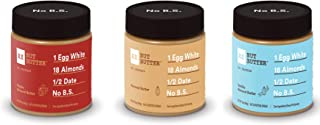 RXBAR, RX Nut Butter, Almond Butter Jars Variety Pack, , Low Carb, Keto Friendly, No Added Sugar, Gluten Free, 10 Ounce (Pack of 3)