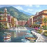 Pittura digitale fai da te senza cornice dimensioni lavanda: 40 cm * 50 cm senza cornice 40x50 1640 costa europea