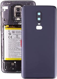 修理ツール、完全にフィットして作業 OnePlus 6のカメラレンズにつや消しのバッテリーバックカバーを交換する(ブラック) (Color : Black)