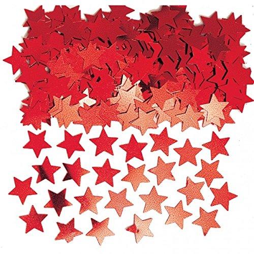 Amscan International Stardust Confetti métallique, Rouge