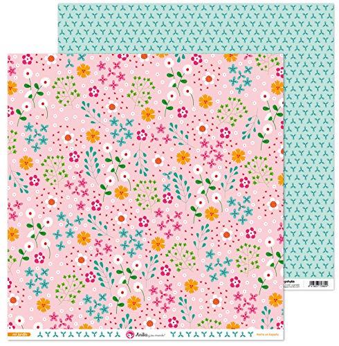 Anita y Su Mundo Colección Mi Jardín Papeles de Scrapbooking, Paper, 30.5 x 30.5 cm