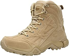 Men's Classic 9-Inch Tactical Boot-RQWEIN Military Tactical Boots Full Grain Leather Police Duty Water Resistant Boots