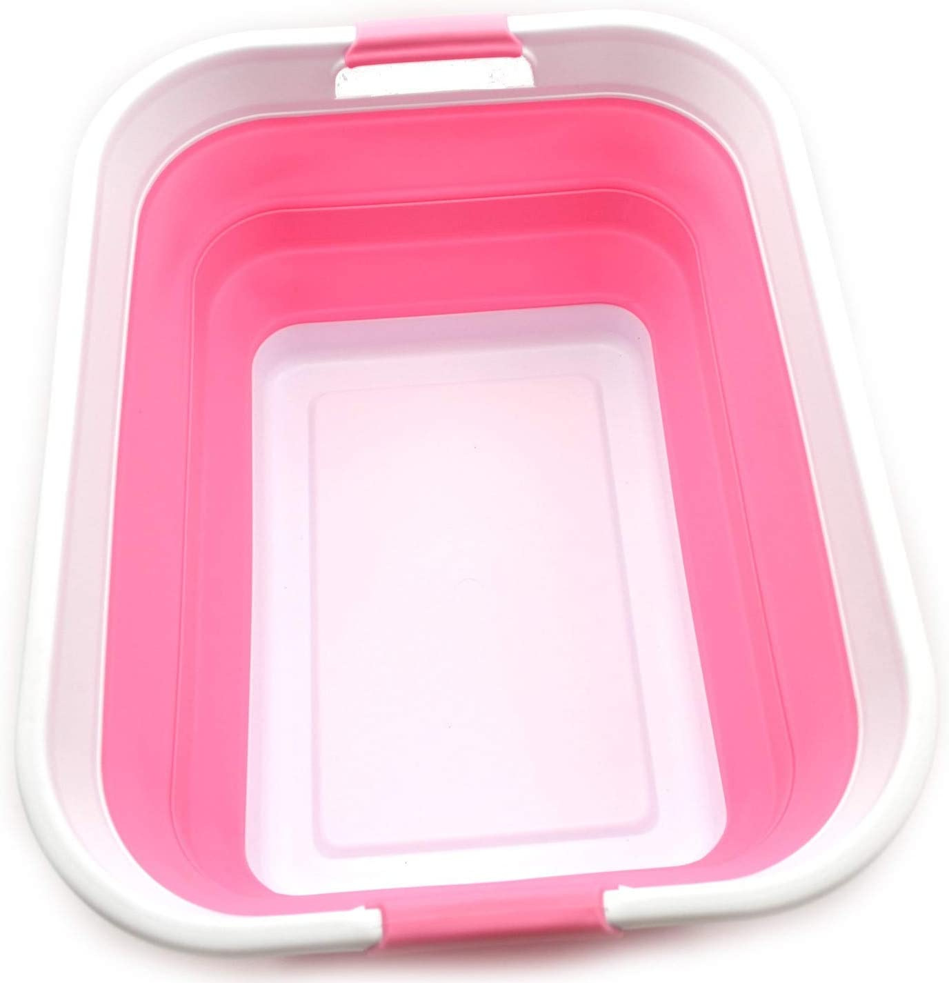 SAMMART Collapsible Brand new Popular brand Plastic Laundry Basket Up - Sto Foldable Pop