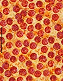 Pepperoni Pizza Lover Notebook: 100 Blank Lined College Ruled Pages Funny Novelty Food Pepperoni Cheese Pizza Notebook