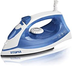 Utopia Home Steam Iron with Nonstick Soleplate - Small Size Lightweight - Best for Travel - Powerful Steam Output - 360 De...